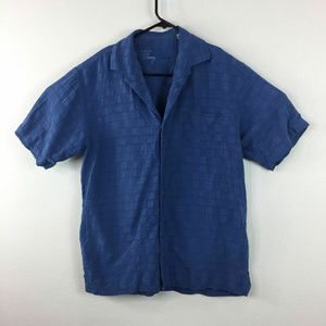 Tommy Bahama Textured Hawaiian Silk Casual Shirt M